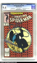 Modern Age (1980-Present):Superhero, Amazing Spider-Man #300 (Marvel, 1988) CGC NM 9.4 Off-white towhite pages. The landmark 300th issue, featuring art by Todd ...