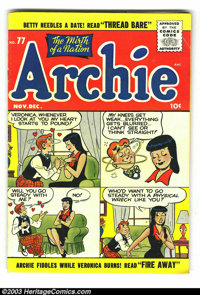 Archie Group (Archie, 1955-57) Condition: Average VG 4.0. This group contains issues #77, 81, and 87. Approximate Overst...