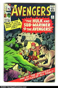 The Avengers #3 (Marvel, 1964) Condition: VG+. Second Sub-Mariner crossover outside of Fantastic Four. Overstreet 2003 V...