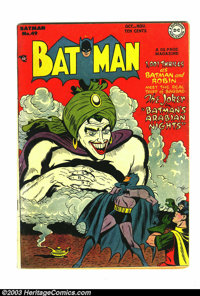 Batman #49 (DC, 1948) Condition: Apparent FN 6.0. Super Joker cover goes uncredited in Overstreet, but The Grand Comics...