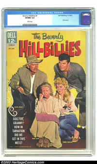 Beverly Hillbillies #3 (Dell, 1963) CGC VF/NM 9.0 White pages. Photo cover. Only two copies of this issue have earned a...