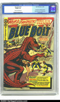 Golden Age (1938-1955):Science Fiction, Blue Bolt #107 (Star Publications, 1950) CGC VG/FN 5.0 Cream tooff-white pages. L. B. Cole dinosaur cover. Spacehawk by Bas...