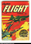 Golden Age (1938-1955):Superhero, Captain Flight #10 (Four Star, 1945) Condition: FR. Bondage cover by L.B. Cole. Just one copy of this issue appears in CGC's...