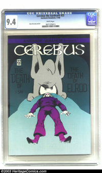 Cerebus #22 (Aardvark-Vanahem, 1980) CGC NM 9.4 Off-white to white pages. Low distribution issue with no cover price. Ov...