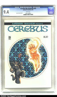 Cerebus #29 (Aardvark-Vanahem, 1981) CGC NM 9.4 Off-white to white pages. Dave Sim story and art. Highest CGC graded cop...
