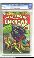 Silver Age (1956-1969):Adventure, Challengers of the Unknown #49 Boston pedigree (DC, 1966) CGC NM 9.4 White pages. Highest-graded copy yet certified by CGC f...
