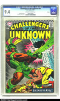 Silver Age (1956-1969):Adventure, Challengers of the Unknown #56 Boston pedigree (DC, 1967) CGC NM 9.4 Off-white to white pages. Highest-graded copy yet certi...
