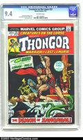 Bronze Age (1970-1979):Miscellaneous, Creatures on the Loose #22 Thongor (Marvel, 1973) CGC NM 9.4Off-white pages. Jim Steranko cover. Val Mayerik and Vince Coll...