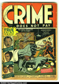 Golden Age (1938-1955):Crime, Crime Does Not Pay 22 (#1) (Lev Gleason, 1942) Condition: FR. Here is the action-packed first issue, formerly titled Silver ...