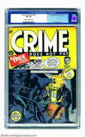 Golden Age (1938-1955):Crime, Crime Does Not Pay #27 (Lev Gleason, 1943) CGC VF+ 8.5 Off-white to white pages. There are no better no crime comics than th...
