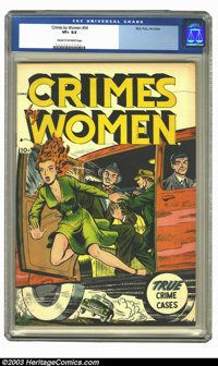 Crimes by Women #54 (Fox, 1954) CGC VF+ 8.5 Cream to off-white pages. Since this was basically a one-shot that came out...