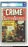 Crime SuspenStories #2 (EC, 1950) CGC FN/VF 7.0 White pages. Johnny Craig cover and art. Plus Graham Ingels and Jack Kam...