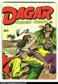 Dagar, Desert Hawk #20 (Fox Features Syndicate, 1948) Condition: VG-. Headlights all the way! This is a great Fox book...