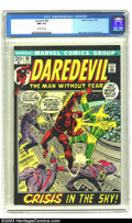 Bronze Age (1970-1979):Superhero, Daredevil #89 (Marvel, 1972) CGC NM 9.4 Off-white pages. Gene Colan and Tom Palmer art. Overstreet 2003 NM 9.4 value = $18....