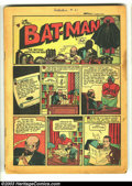 Golden Age (1938-1955):Superhero, Detective Comics #29 (DC, 1939) Condition: coverless. First appearance of Doctor Death, Batman's first name villain; First t...