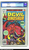 Bronze Age (1970-1979):Miscellaneous, Devil Dinosaur #1 (Marvel, 1978) CGC NM+ 9.6 Off-white to whitepages. Jack Kirby cover and art. This is an extremely beauti...