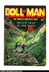 """Doll Man #36 (Quality, 1951) Condition: VG. This issue features Doll Man and his pet """"wonder dog"""" Elmo. There'..."""