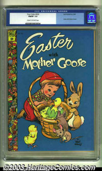 Easter With Mother Goose Four Color #220 (Dell, 1949) CGC FN/VF 7.0 Cream to off-white pages. Overstreet 2003 FN 6.0 val...