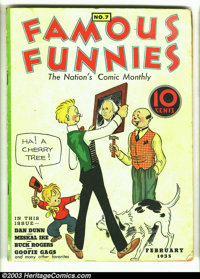 """Famous Funnies #7 (Eastern Color, 1935) Condition: GD/VG. Here is a rarely seen """"pre"""" Golden Age book. You bet..."""
