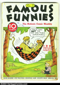 """Famous Funnies #13 (Eastern Color, 1935) Condition: GD/VG. Here is a rarely seen """"pre"""" Golden Age book. You be..."""