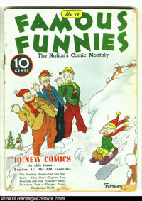 """Famous Funnies #19 (Eastern Color, 1936) Condition: GD. Here is a rarely seen """"pre"""" Golden Age book. You bette..."""