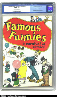 Famous Funnies: Carnival of Comics #nn (No Publisher, 1933) CGC FN/VF 7.0 Cream to off-white pages. Generally regarded a...