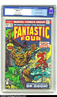 Fantastic Four #143 (Marvel, 1974) CGC NM 9.4 Off-white to white pages. Doctor Doom appearance. Overstreet 2003 NM 9.4 v...