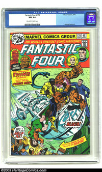 Fantastic Four #170 (Marvel, 1976) CGC NM 9.4 Off-white to white pages. George Perez artwork. Overstreet 2003 NM 9.4 val...
