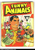 Golden Age (1938-1955):Cartoon Character, Fawcett's Funny Animals #1 (Fawcett, 1942) Condition: GD+. Captain Marvel on cover. Intro the Captain Marvel Bunny. Two inch...