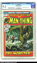 Bronze Age (1970-1979):Horror, Fear #10 Man-Thing (Marvel, 1972) CGC NM- 9.2 Off-white to whitepages. Man-Thing begins his solo series. Gray Morrow cover....