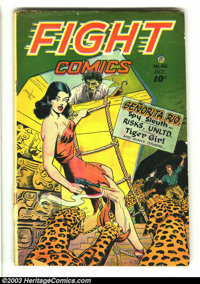 Fight Comics #46 (Fiction House, 1946) Condition: GD/VG. Joe Doolin cover. Matt Baker art. Three-inch spine split at bot...