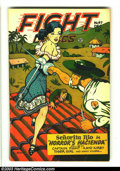 Golden Age (1938-1955):Adventure, Fight Comics #47 (Fiction House, 1946) Condition: VG+ 4.5. Lily Renee cover. Matt Baker art. Two-inch spine split at bottom....