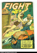 Golden Age (1938-1955):Adventure, Fight Comics #51 (Fiction House, 1947) Condition: FN. Joe Doolin cover. Matt Baker and Jack Kamen art. Origin Tiger Girl. Ov...