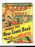 Golden Age (1938-1955):Superhero, Flash Comics Wheaties Promo #1 (DC, 1946) Condition: GD 2.0. Never found in high grade due to being taped to a box of Wheati...