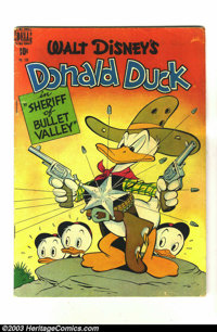 """Four Color #199 Donald Duck (Dell, 1948) Condition: VG-. """"Sheriff of Bullet Valley"""" classic story by Carl Bark..."""