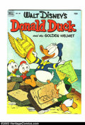 Golden Age (1938-1955):Funny Animal, Four Color #408 Donald Duck (Dell, 1952) Condition: VF-. Reallynice, high-grade book. Overstreet 2003 VF 8.0 value = $188....