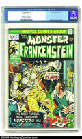 Bronze Age (1970-1979):Horror, Frankenstein #1 (Marvel, 1973) CGC NM- 9.2 Off-white to whitepages. Mike Ploog cover and art. Overstreet 2003 NM 9.4 value ...