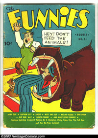 Funnies #11 (Dell, 1937) Condition: GD/VG. Mutt and Jeff cover. Alley Oop, Captain Easy, Dan Dunn, Major Hoople, Out Our...