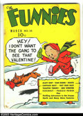Golden Age (1938-1955):Humor, Funnies #18 (Dell, 1938) Condition: GD/VG. Alley Oop, Captain Easy, Dan Dunn, Major Hoople, Mutt and Jeff, many others. Over...