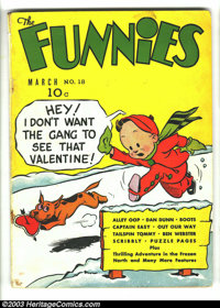 Funnies #18 (Dell, 1938) Condition: GD/VG. Alley Oop, Captain Easy, Dan Dunn, Major Hoople, Mutt and Jeff, many others...