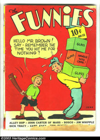 Funnies #32 (Dell, 1939) Condition: GD. John Carter of Mars, Alley Oop, Dick Tracy, Captain Easy, many others. Overstree...
