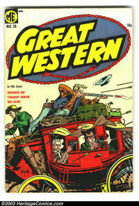 Great Western Group (Magazine Enterprises, 1954) . This lot consists of issues #10 and 11, both in VG+. Calico Kid by Gu...