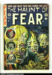 """The Haunt of Fear #17 (EC, 1953) Condition: VG-. Classic cover art by """"Ghastly"""" Graham Ingels. Jack Davis, Geo..."""