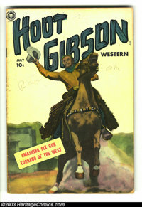 Hoot Gibson Western #6 (Fox, 1950) Condition: VG-. Photo/painted cover. Overstreet 2003 VG 4.0 value = $58