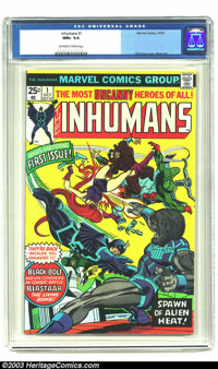 The Inhumans #1 (Marvel, 1975) CGC NM+ 9.6 Off-white to white pages. Gil Kane cover and George Perez interior art. One o...