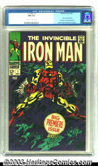 Iron Man #1 (Marvel, 1968) CGC NM 9.4 Off-white to white pages. Overstreet 2003 NM 9.4 value = $575