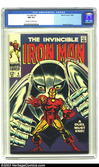 Iron Man #8 (Marvel, 1968) CGC NM 9.4 Off-white to white pages. George Tuska art. To date only two copies of this issue...