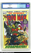 Bronze Age (1970-1979):Superhero, Iron Man #43 (Marvel, 1971) CGC NM- 9.2 White pages. Introduction the Guardsman. George Tuska art. Overstreet 2003 NM 9.4 va...