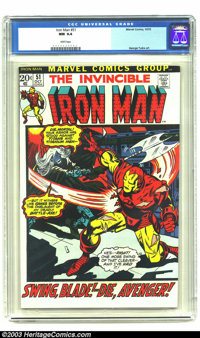 Iron Man #51 (Marvel, 1972) CGC NM 9.4 White pages. George Tuska art. To date only three copies of this issue have been...