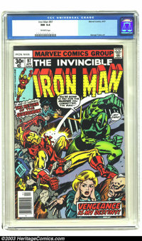 Iron Man #97 (Marvel, 1977) CGC NM 9.4 Off-white pages. George Tuska art. Only one other copy of issue #97 has received...
